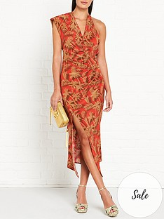 bec-bridge-shady-palm-print-asymmetric-midi-dress-red