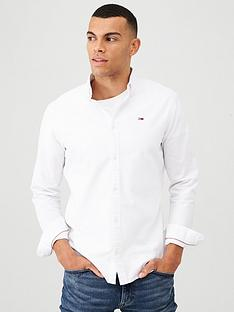 tommy-jeans-long-sleeved-oxford-shirt-white