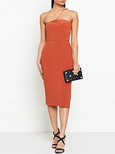 bec-bridge-ruby-asymmetric-midi-dress-rust