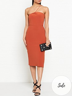 bec-bridge-ruby-asymmetric-midi-dress-rust
