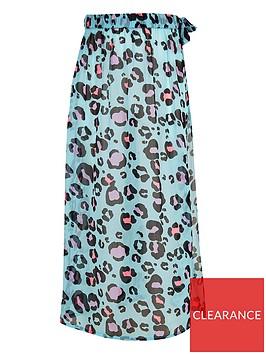 river-island-girls-leopard-print-beach-skirt-blue