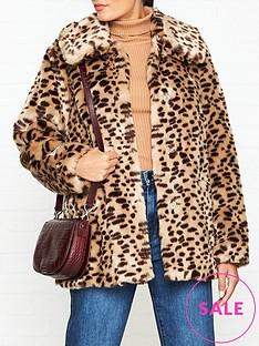 jakke-tilly-cheetah-print-faux-fur-jacket-brown