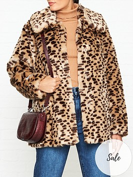 jakke-tilly-cheetah-print-faux-fur-jacket-brown