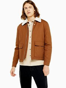 topman-topman-michigan-borg-collar-jacket-tan