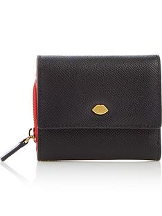 lulu-guinness-lip-pin-jodie-wallet-black