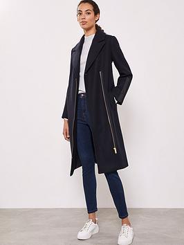 mint-velvet-leather-patch-longline-coat
