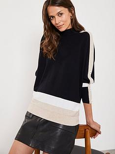 mint-velvet-blocked-batwing-jumper-black