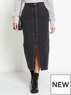 vivienne-westwood-anglomania-vintage-wash-denim-pencil-skirt-black