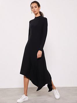 mint-velvet-asymmetric-hem-knitted-dress-black