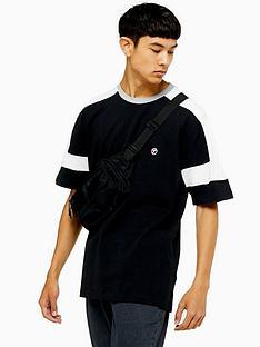 topman-topman-cut-and-sew-t-shirt-black