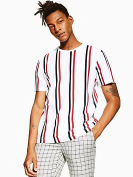 topman-topman-luke-stripe-t-shirt-white