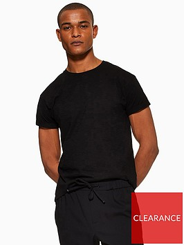 topman-topman-muscle-fit-roller-t-shirt-black
