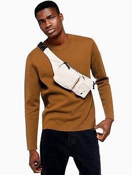 topman-topman-double-face-knitted-jumper-brown
