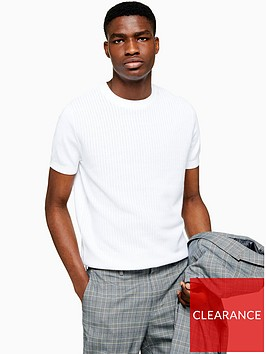 topman-topman-short-sleeve-knitted-jumper-white