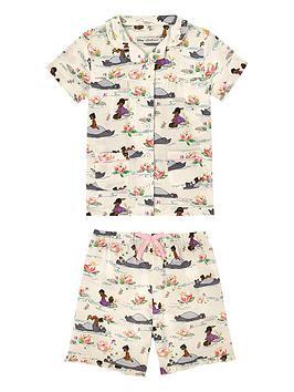 cath-kidston-girls-jungle-book-woven-pyjama-set-multi