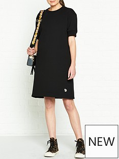 ps-paul-smith-zebra-sweatshirt-dress-black