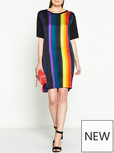 ps-paul-smith-stripe-woven-t-shirt-dress-multicolour