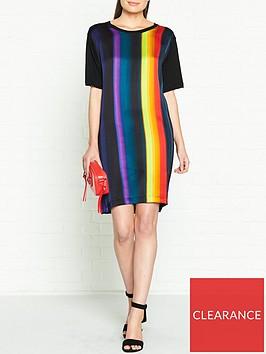ps-paul-smith-stripe-woven-t-shirt-dress-multicolour