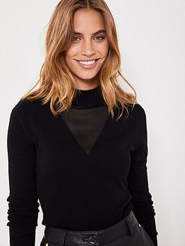 mint-velvet-mesh-insert-grown-on-neck-batwing-jumper-black