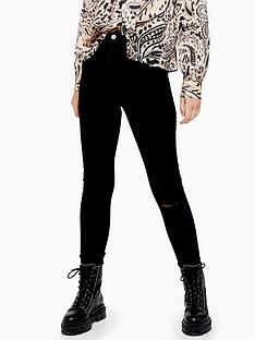 topshop-tall-black-ripped-joni-skinny-jeans-black