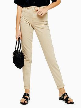 topshop-mom-high-waist-jeans-sand