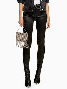 topshop-topshop-coated-jamie-super-high-waisted-black-skinny-jeans