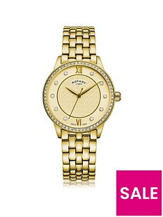 rotary-exclusive-textured-champagne-swarovski-set-dial-gold-stainless-steel-bracelet-ladies-watch