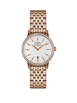 rotary-rotary-silver-sunray-crystal-set-date-dial-rose-gold-stainless-steel-bracelet-ladies-watch