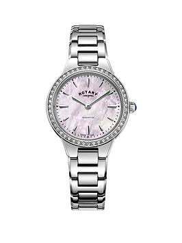 rotary-rotary-mother-of-pearl-swarovski-set-dial-stainless-steel-bracelet-ladies-watch