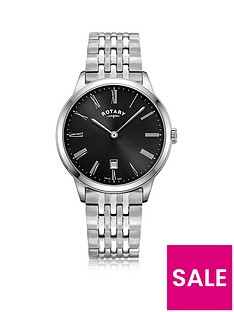 rotary-exclusive-rotary-black-sunray-date-dial-stainless-steel-bracelet-mens-watch