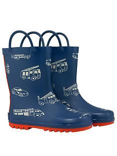 cath-kidston-boys-toy-traffic-wellington-boot-navy