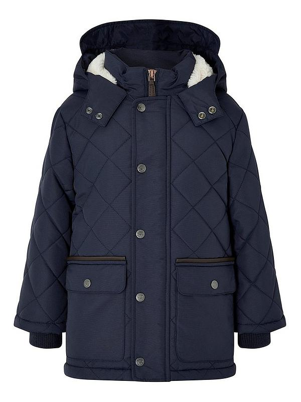 Boys Jamie Quilted Hooded Coat