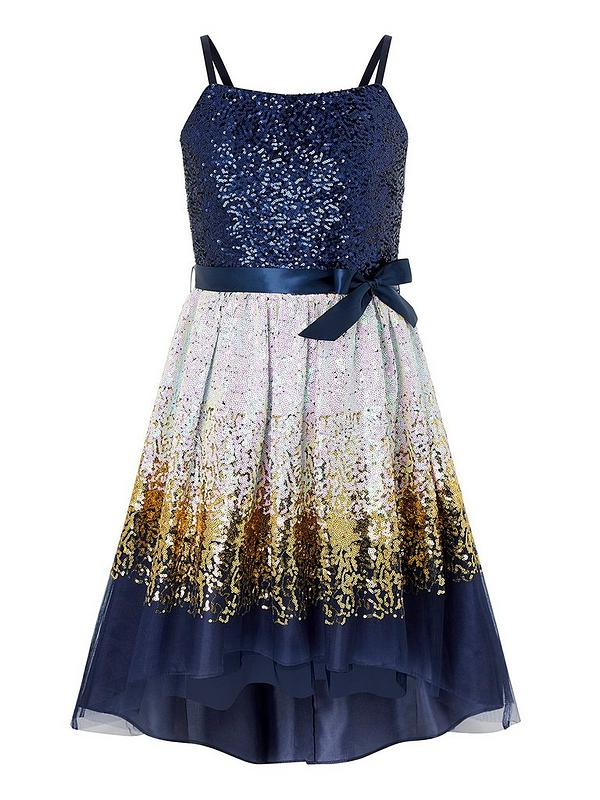 biggest discount low price sale presenting Madeline Ombre Prom Dress - Navy