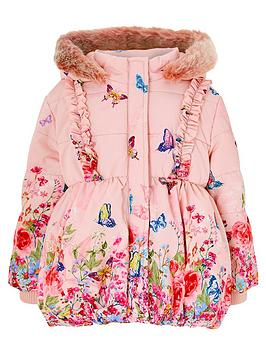 monsoon-baby-girls-slyvie-border-hooded-coat-pink