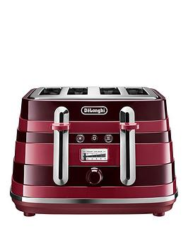 Delonghi Avvolta Class Ctac4003.R 4 Slice Toaster - Red