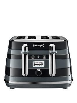 Delonghi Avvolta Class Ctac4003.Bk 4 Slice Toaster - Black