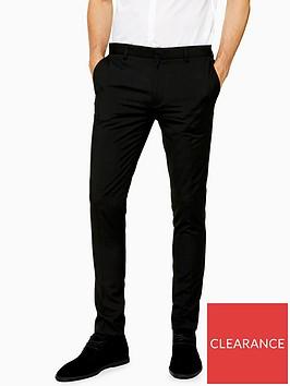 topman-topman-ultra-skinny-leg-trousers-black