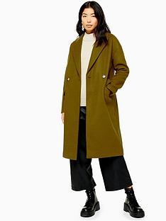 topshop-double-button-longline-coat-khaki