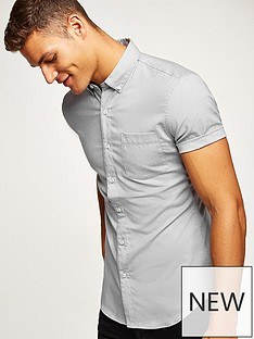 topman-topman-short-sleeve-shirt-grey