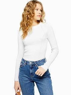 topshop-topshop-crew-neck-slim-fit-knitted-jumper