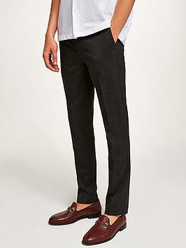 topman-topman-skinny-leg-trousers-grey