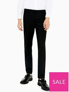 topman-topman-slim-leg-trousers-black