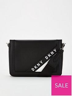 dkny-bond-logo-embossed-cross-body-black