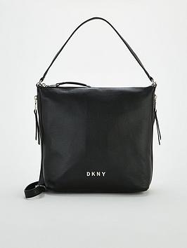 dkny-tappen-large-zip-hobo-bag-black