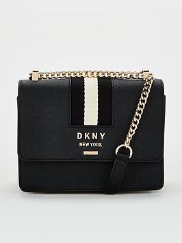 dkny-liza-small-shoulder-flap-black