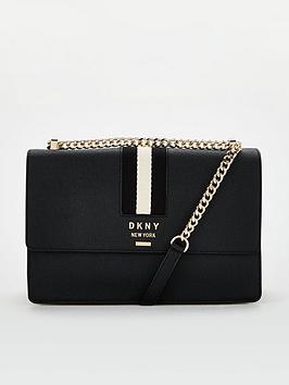 dkny-liza-medium-shoulder-flap-black