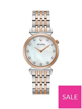 bulova-bulova-regatta-mother-of-pearl-and-diamond-dial-rose-gold-stainless-steel-two-tone-bracelet-ladies-watch