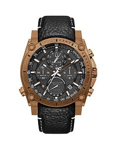 bulova-precisionist-black-chronograph-and-bronze-plated-bezel-dial-black-leather-strap-mens-watch