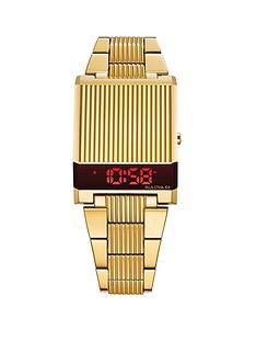 bulova-bulova-computron-archive-series-red-digital-dial-gold-stainless-steel-bracelet-watch
