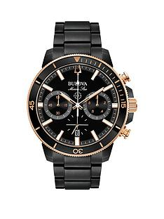 bulova-bulova-marine-star-black-and-rose-gold-deatil-chronograph-dial-black-ip-stainless-steel-bracelet-mens-watch